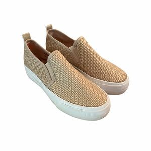 Brand new canvas woman's slip on sneakers